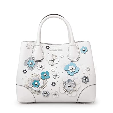 42fa7eb998385b Amazon.com: Michael Kors Mercer Gallery Small Floral Embellished Satchel  OPWHT MULTI: Shoes