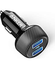 Anker Car Charger [UPGRADED] PowerDrive 2 Elite, Ultra-Compact 5V/4.8A/24W Dual Port Car Charger with PowerIQ Technology for Apple, Samsung, iPad Pro 2018, and other iOS or Android Mobile Phones