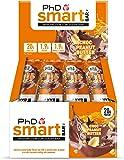 PhD Smart Bar-High Protein Low Sugar Bar, Chocolate Peanut Butter, 64 g, Pack of 12