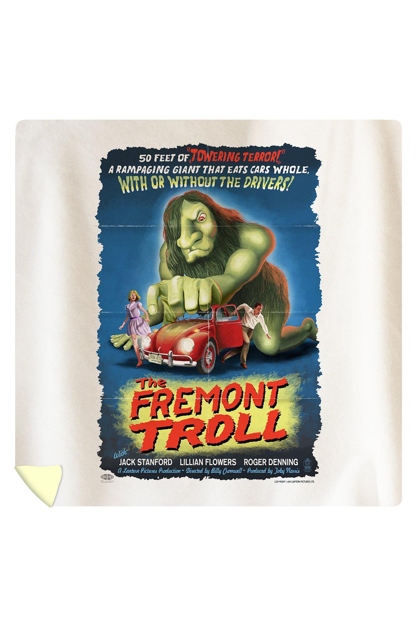 The Fremont Troll Movie Poster (88x88 Queen Microfiber Duvet Cover)
