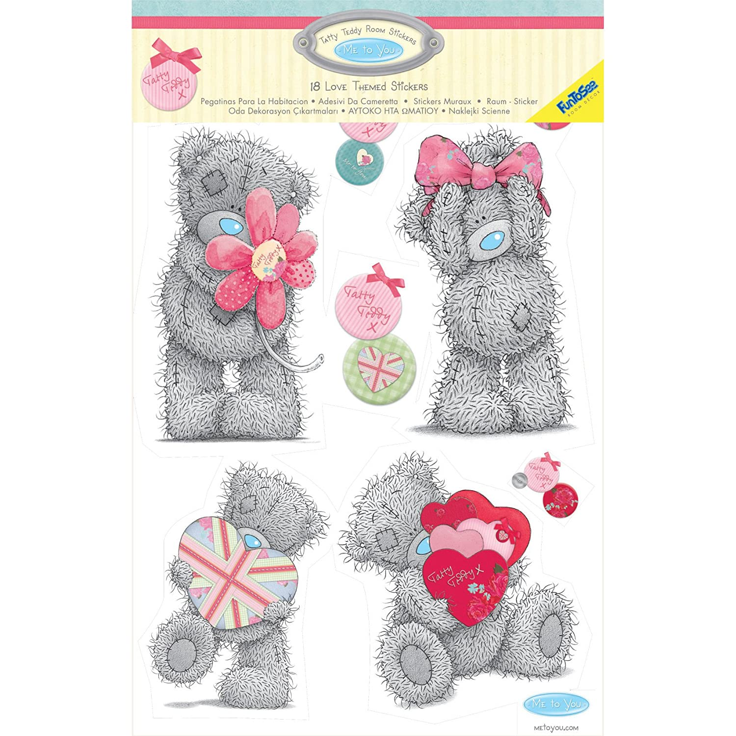 Amazon tatty teddy bear girls nursery and bedroom wall decals amazon tatty teddy bear girls nursery and bedroom wall decals pinkgrey baby amipublicfo Images