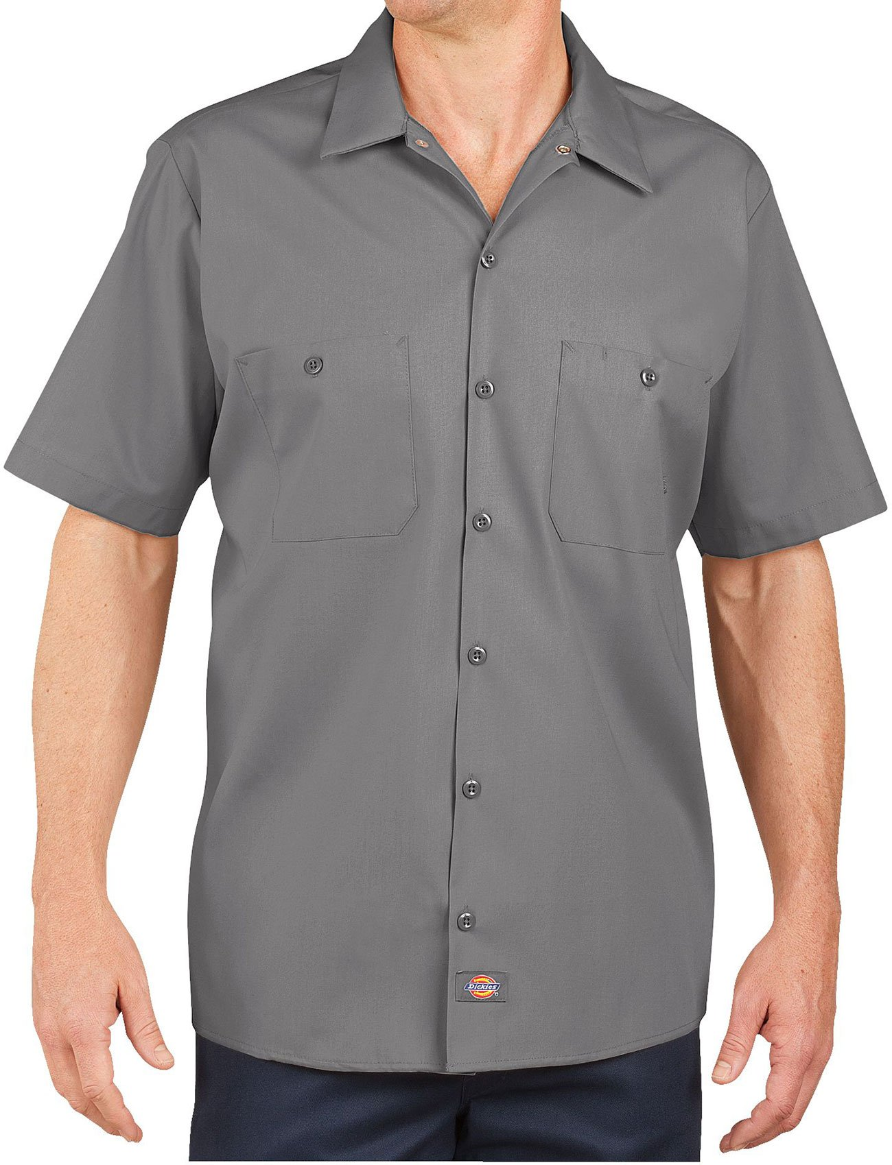Dickies Occupational Workwear LS535GGL LS535 Industrial Short Sleeve Work Shirt, Fabric, Large, Graphite Gray
