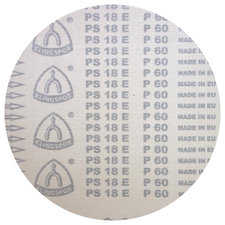 | 10 St/ück K/örnung: 100 /Ø 300 mm GLS 0 Klingspor PS 18 EK Schleifscheibe ungelocht
