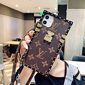 Case for iPhone 12&iPhone 12 pro,Luxury, Square Monogram Phone Cover case.(6.1 inch)
