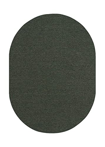 Indoor Outdoor Carpet with Heavy Duty Non Slip Backing Area Rugs Teal – 3 x5 Oval