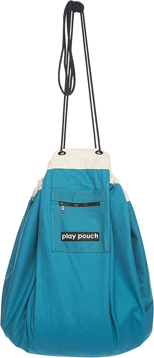 Interactive Play Pouch with Raindrop Village Design ~ Storage Bag and Play Mat