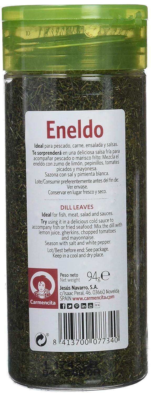 Carmencita Eneldo en Hojas Especias - 6 Paquetes de 1 x 94 gr - Total: 564 gr: Amazon.es: Alimentación y bebidas