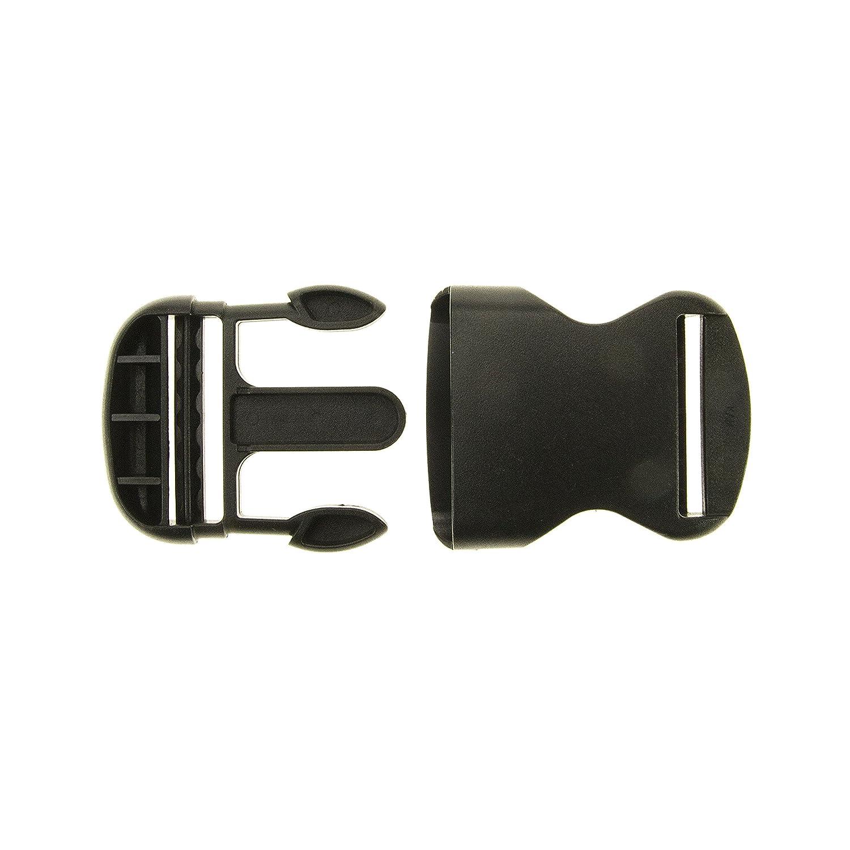 Fibbia a clip per zaini, chiusura robusta, 40mm, nera Prym PRYM_416372-1