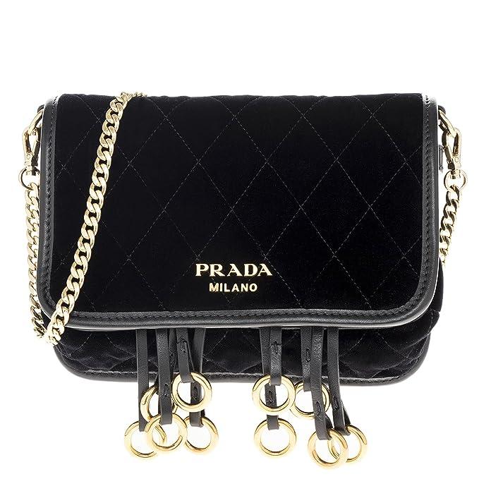 1c2418c9d25a Prada Women's quilted Belt Bag Velvet Black: Amazon.ca: Clothing &  Accessories