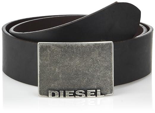 fe3f87ab856d Diesel Hommes B-Blade ceinture, en cuir véritable avec boucle en métal plat,