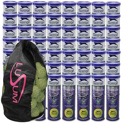 54 x 4 latas de bolas pelotas de tenis de Slazenger Wimbledon con un Lusum bola
