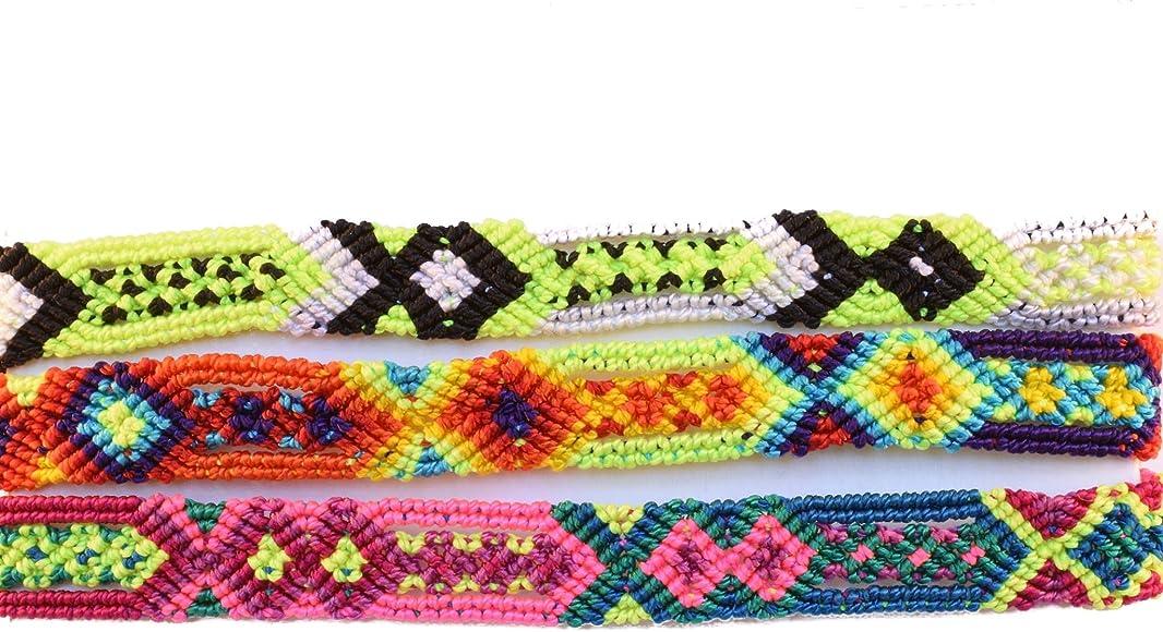 Tahal Bracelets Mexican Bohemian Friendship Bracelet Colorful and Handmade for Women 3 PCS
