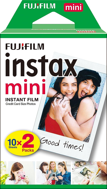 Fujifilm Instax Mini Brillo Película fotográfica instantánea x hojas color blanco