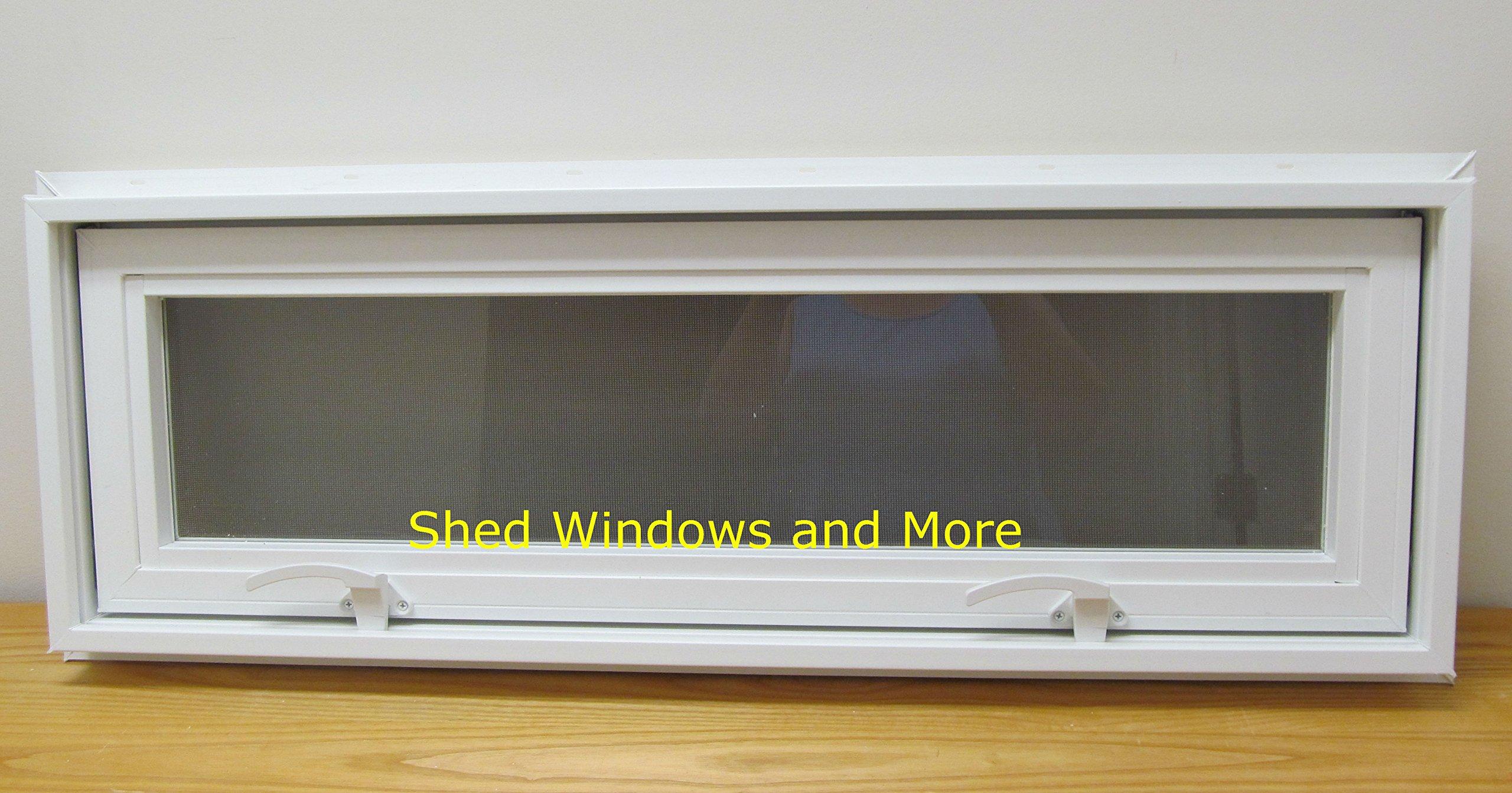 Transom/Awning Window 36'' x 12'' Insulating Window Tiny House Sheds House Windows PLayhouse Windows