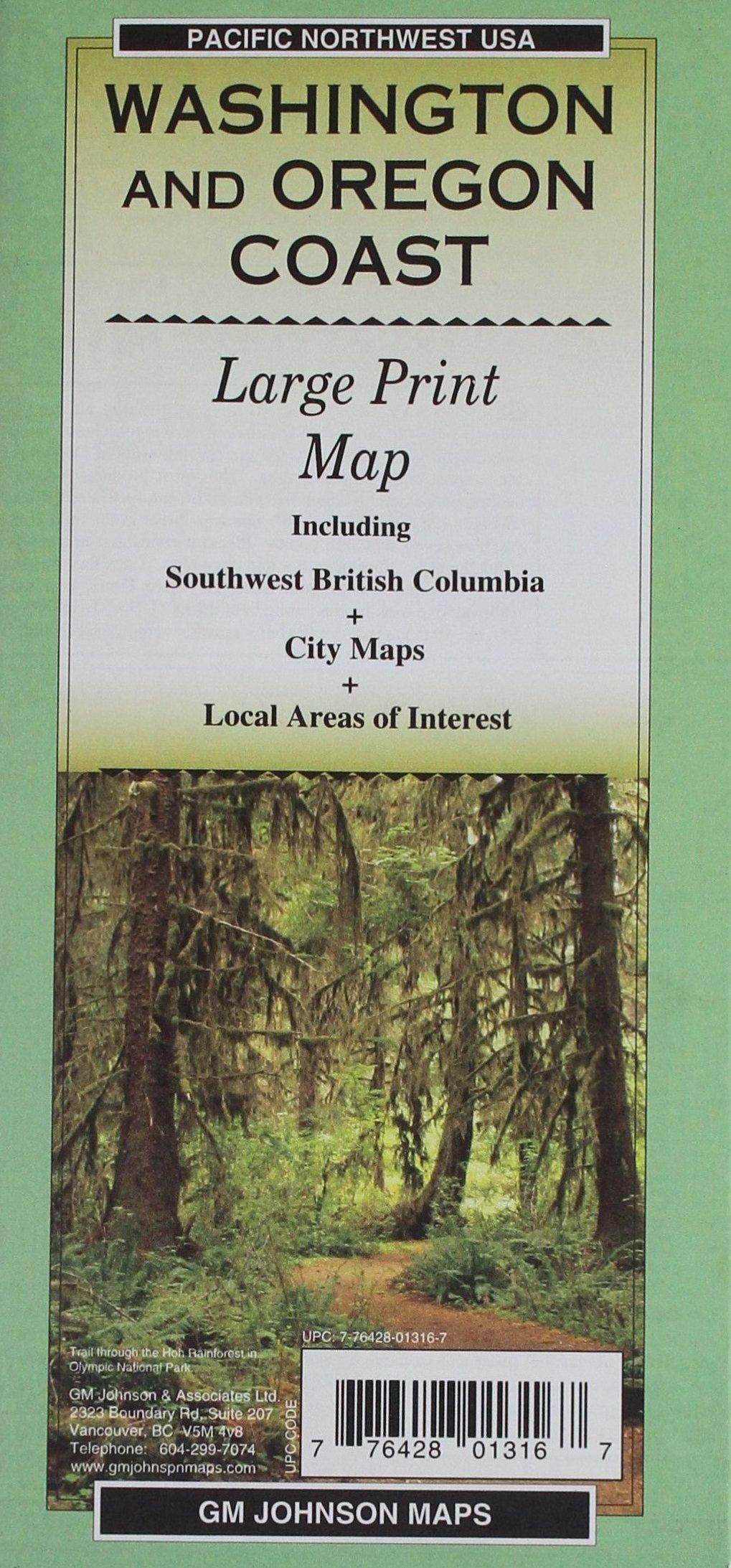 Download Washington and Oregon Coast Large Print PDF