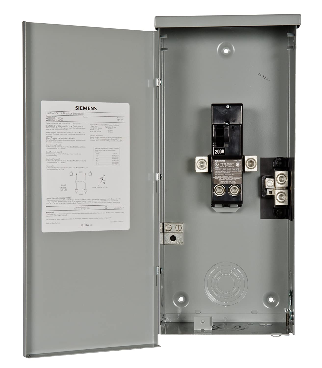 816eFn3lLeL._SL1500_ siemens w0204ml1060u 60 amp outdoor circuit breaker enclosure Siemens 540 100 Wiring Diagrams at gsmx.co