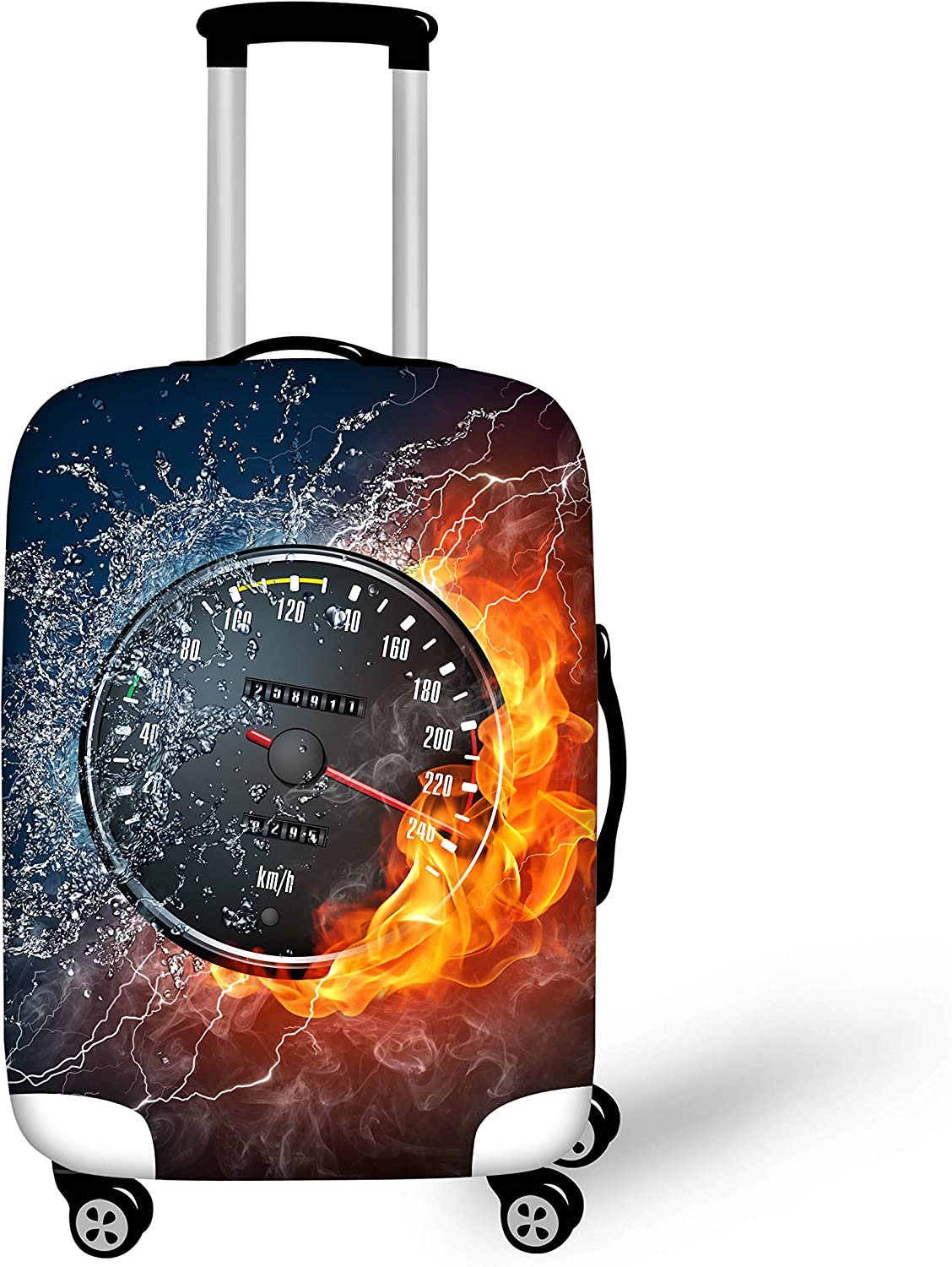 Bigcardesigns Tennis Designs Luggage Cover Boys Men Travel Suitcase Protect Elastic Spandex Covers Size L apply 26-30 Suitcase