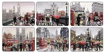 Jason Streets of London - Juego de manteles individuales (6 ...