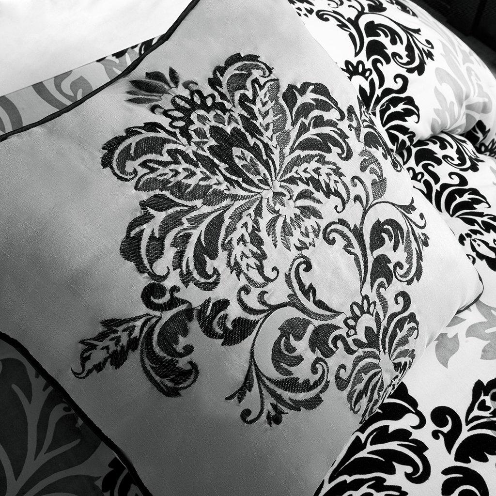 Madison Park Bella 7 Piece Comforter Set Black King MP10-514