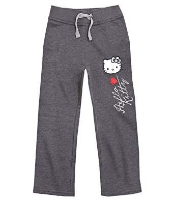 14bf1b7d9 Girls Hello Kitty Tracksuit Bottoms Kids Jogging Trousers New Age 4 6 8 10  Years: Amazon.co.uk: Clothing