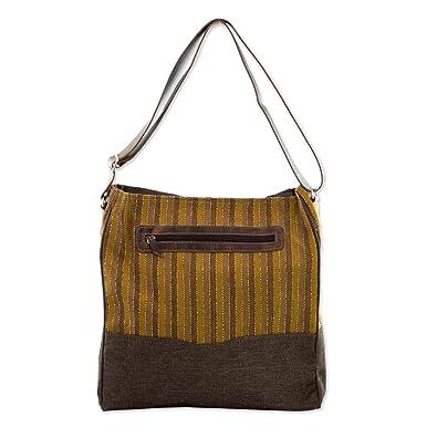 Novica Cotton blend shoulder bag, World of Discovery