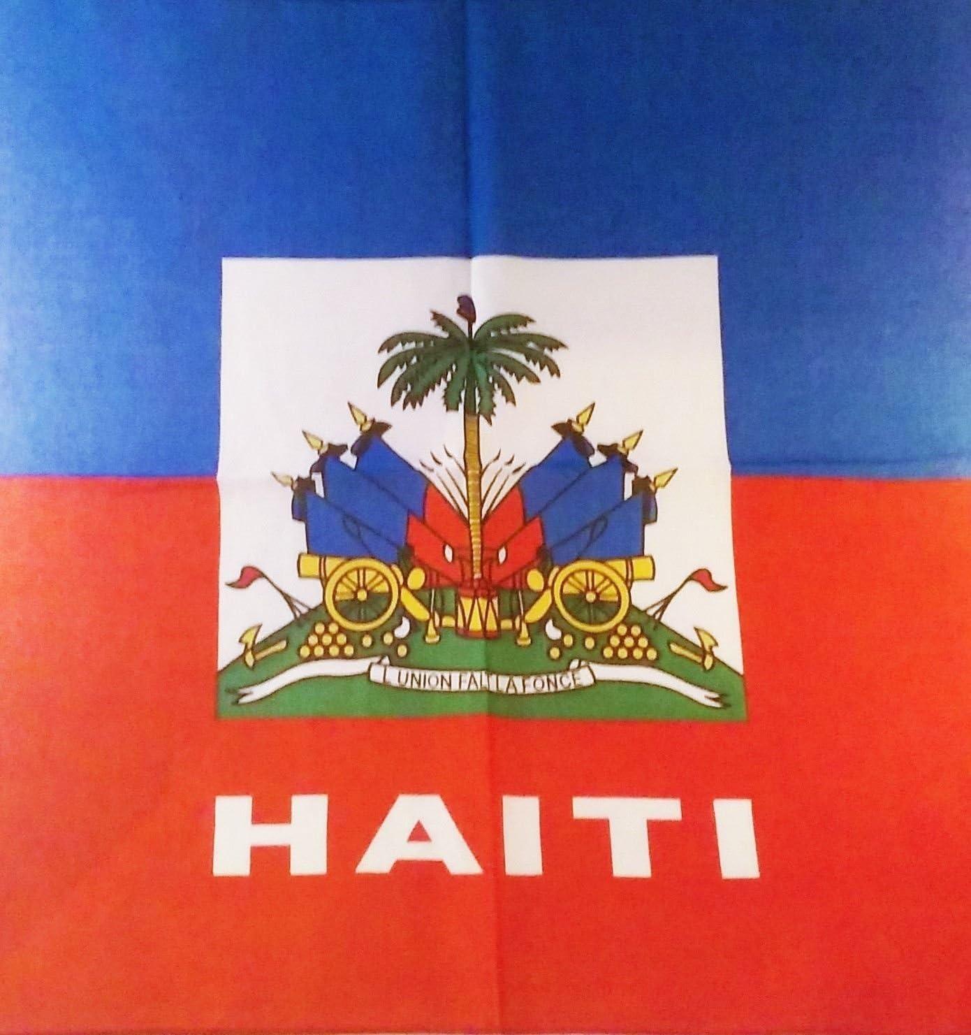 "22/""x22/"" Haiti Country 100/% Cotton Bandana"