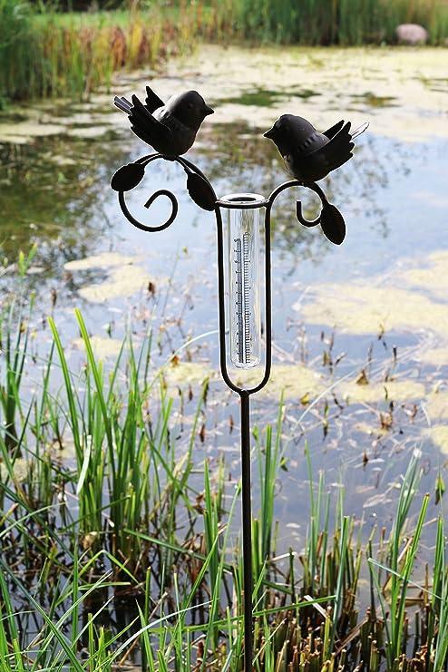 Pluviómetro para Jardín, Metal, Cristal, Marrón, 110 cm: Amazon.es: Jardín