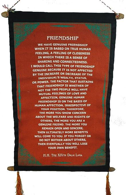 Fair Trade Dalai Lama Quotation Scroll Wall Hanging 47 x 23cm