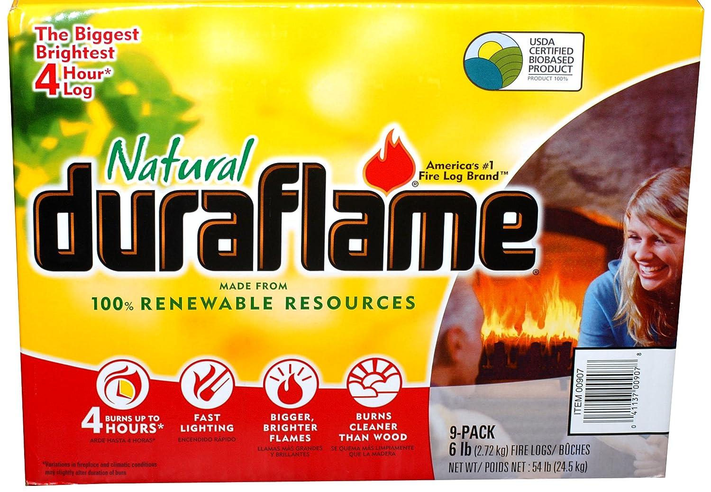 amazon com natural duraflame fire logs 6 lb case of 9 home