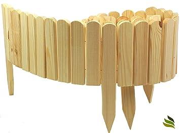 Beeteinfassung Holz floranica rollboarder als steckzaun 200x20 cm aus holz als