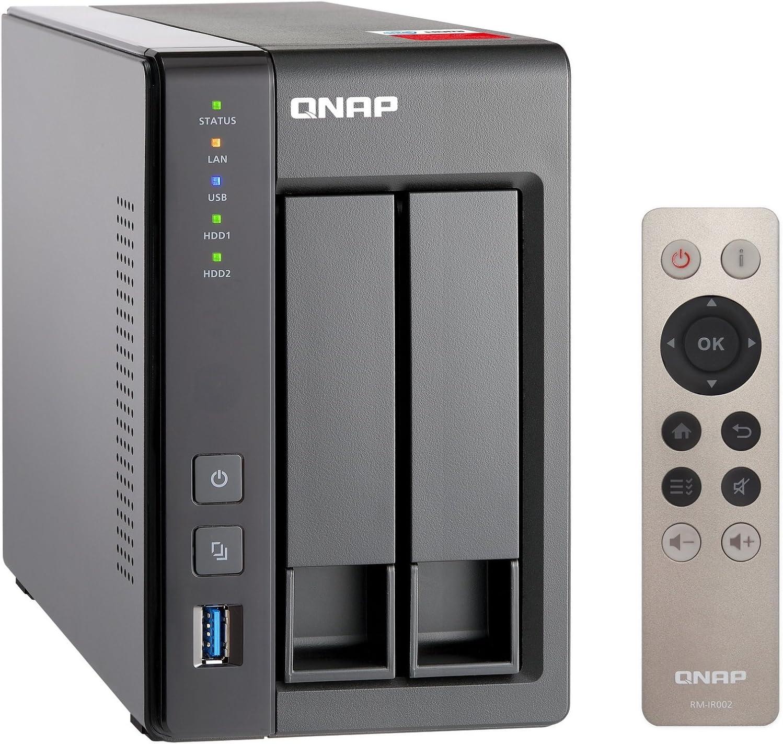 Installiert mit 2 x 3TB Western Digital Red Drives QNAP TS-251+-2G 6TB 2 Bay NAS-L/ösung GDPR-konform