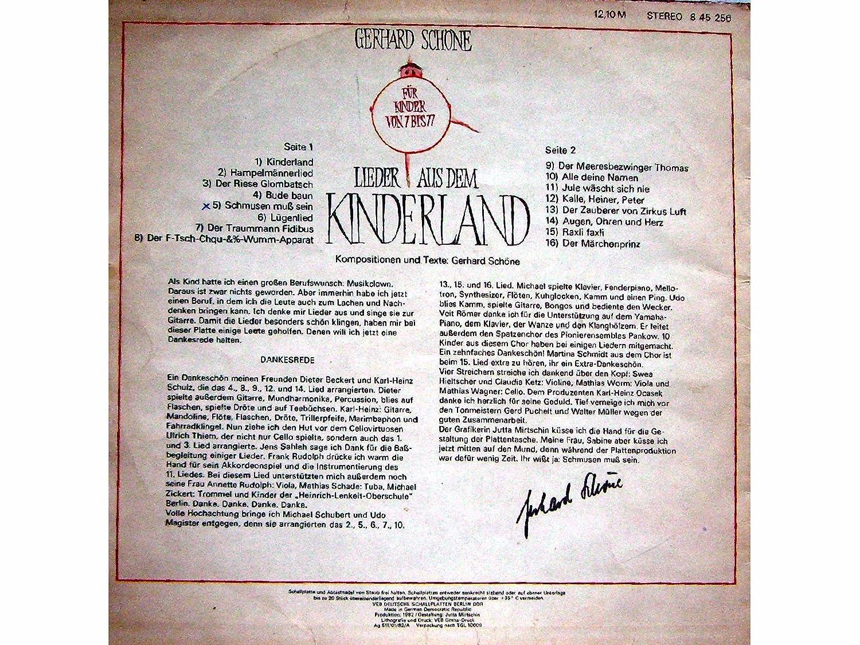 Gerhard Schöne - Lieder Aus Dem Kinderland - AMIGA - 3 3 3