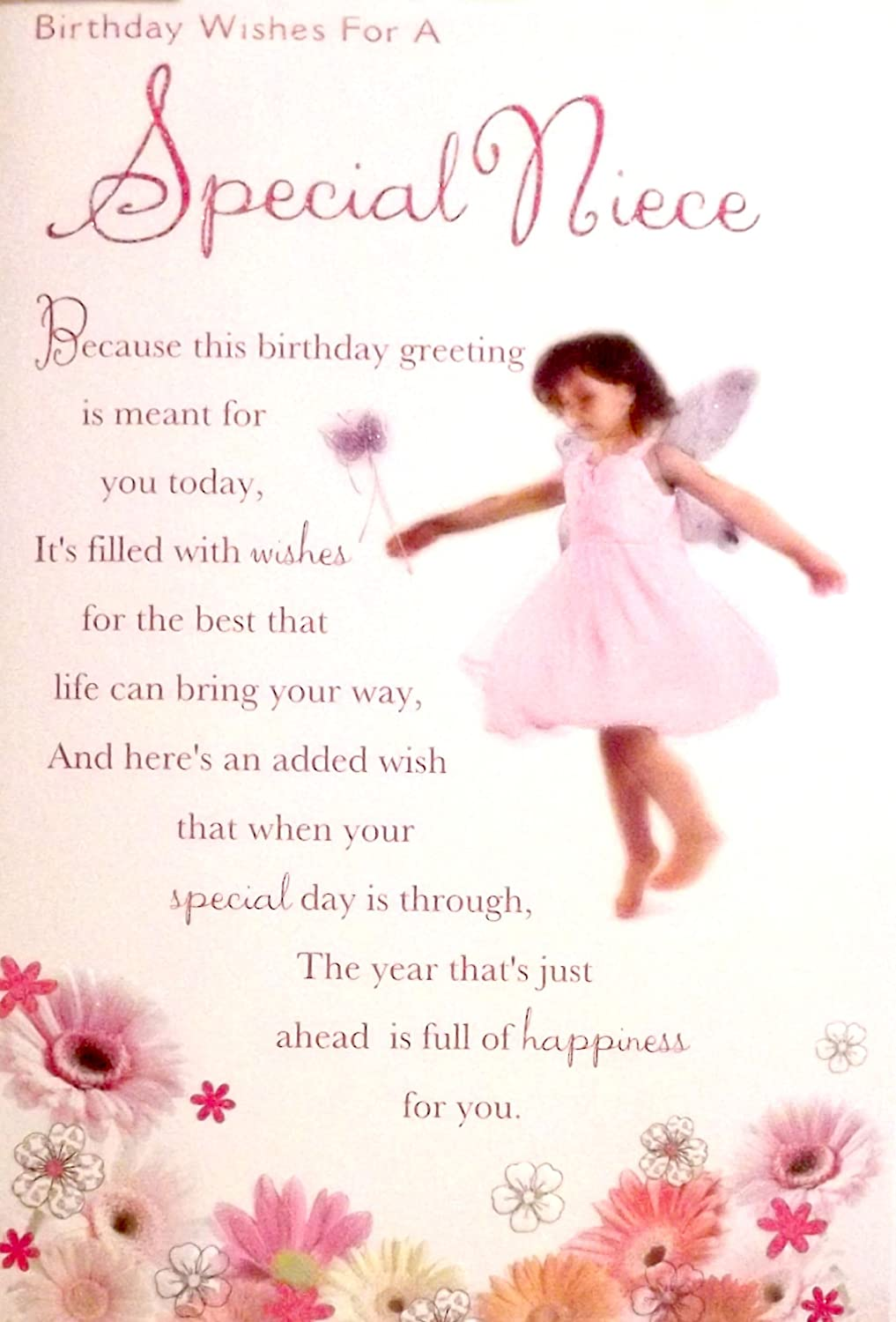 Large Sized Pink White Birthday Wishes For A Special Niece – Birthday Greetings Niece