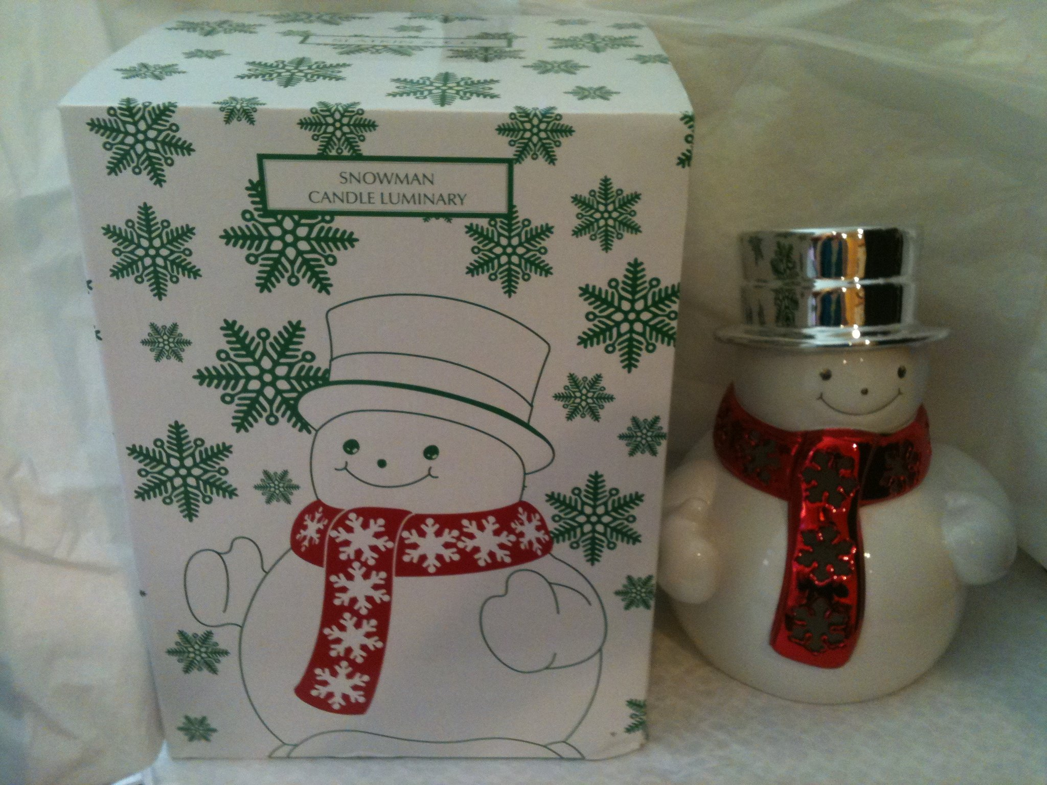 Bath & Body Works Slatkin & Co. Snowman Candle Luminary