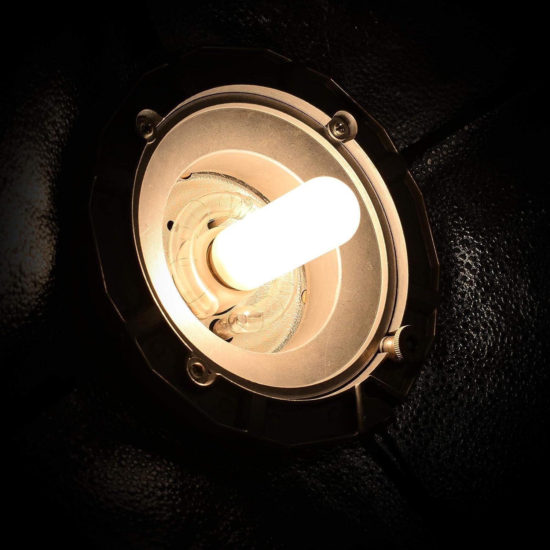 2 Pack Dimmable JDD Tubular Glass Halogen Screw Light Bulb Photography Studio Modeling Strobe Lamp Compact Flash Lighting T10 Medium Base Replacement Q150FR Frosted Lense 150 Watt E26 Monolight Head