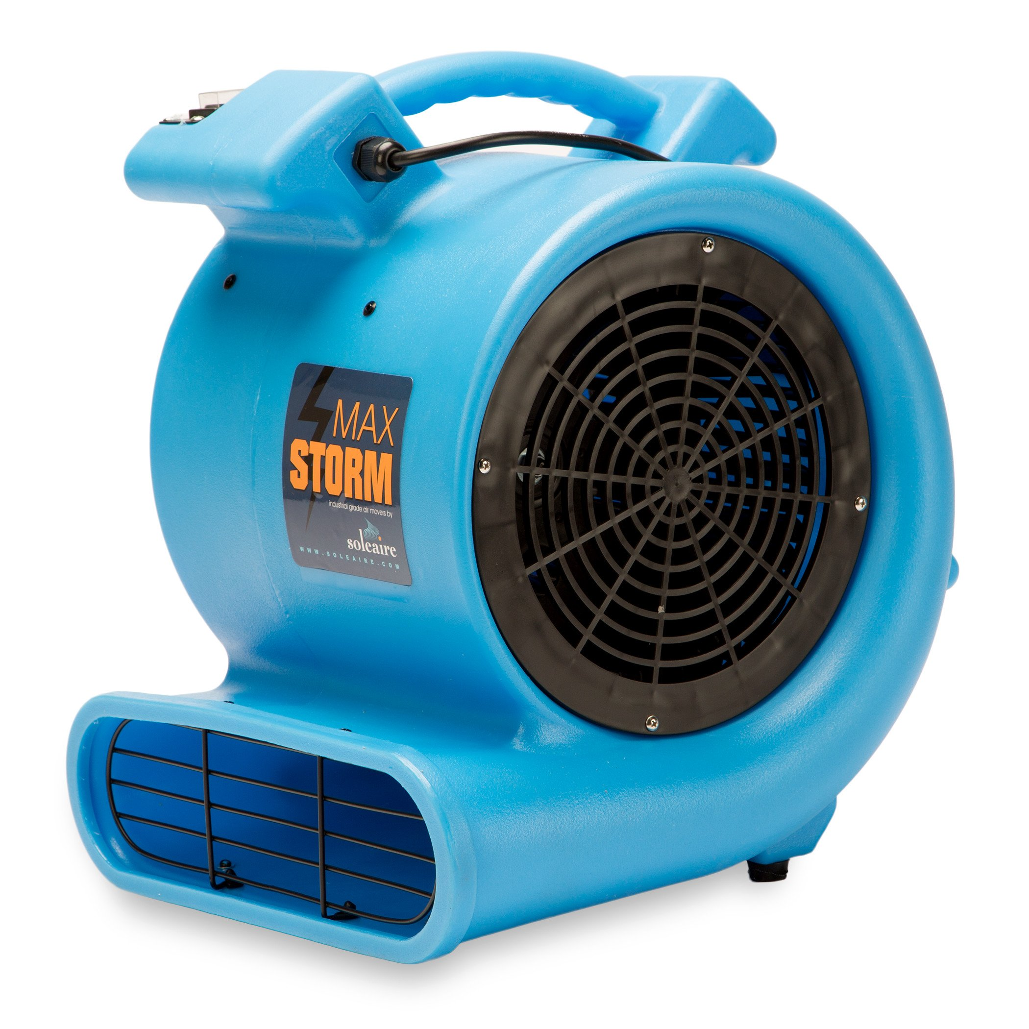 Max Storm 1/2 HP Durable Lightweight Air Mover Carpet Dryer Blower Floor Fan for Pro Janitorial, Blue by Soleaire (Image #2)