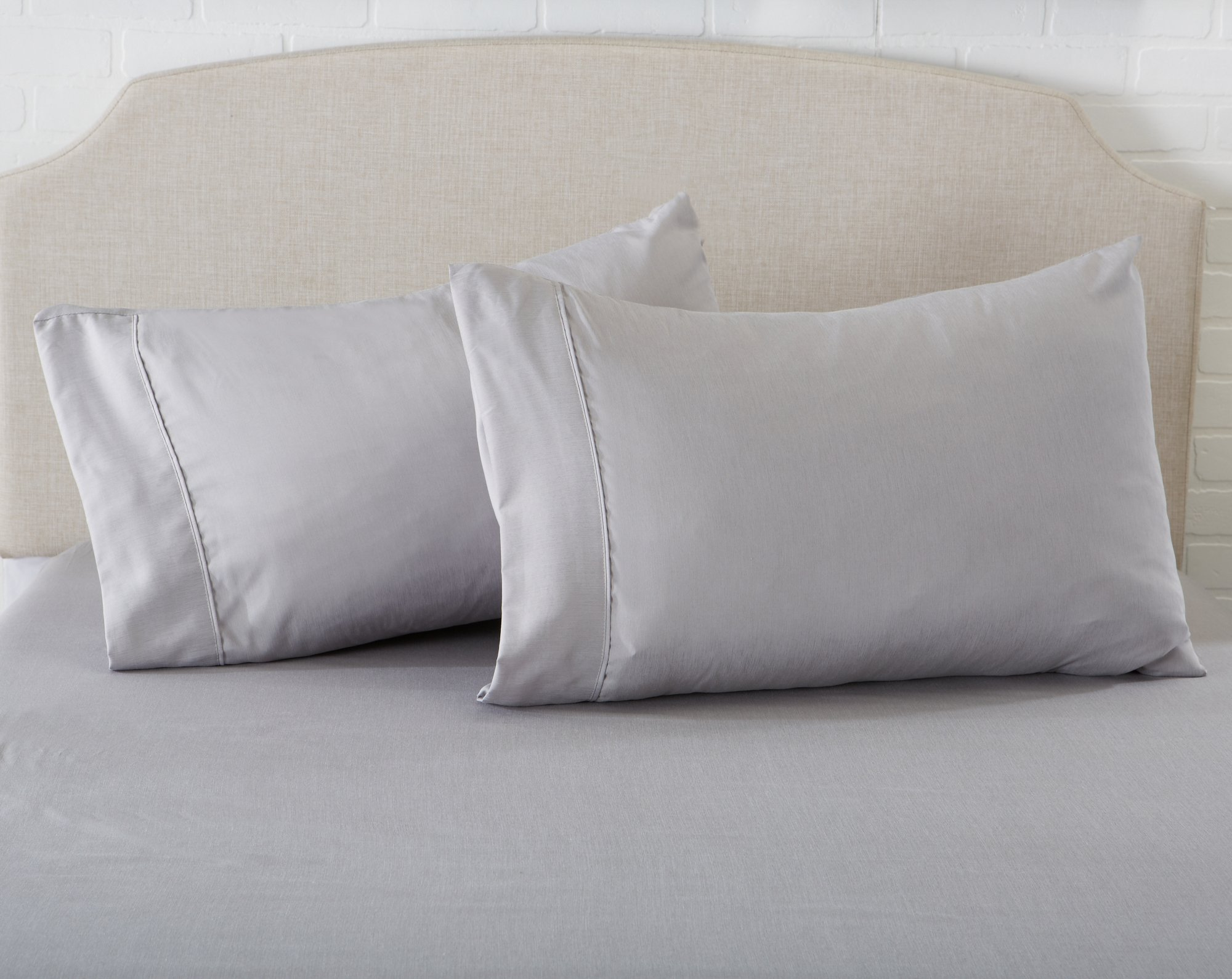 Great Bay Home Luxury Ultra Soft Bamboo Sheet Set. Spa-Quality, Comfortable, All-Season Bed Sheets. By Brand. (King, Paloma Grey) by Great Bay Home (Image #6)