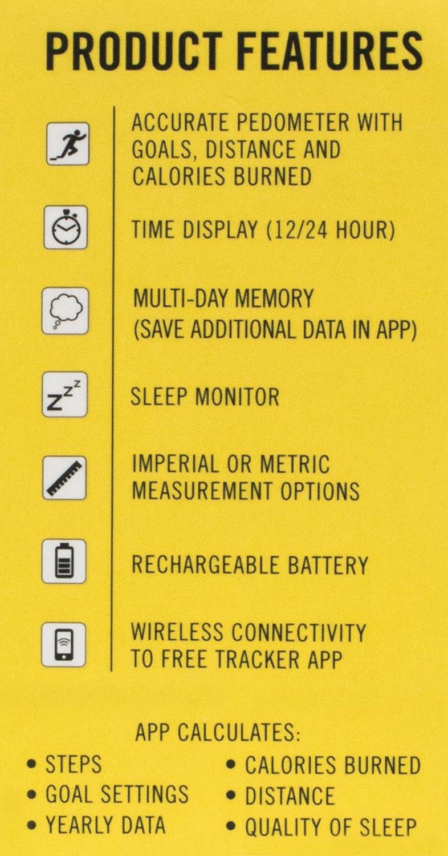 Amazon.com : Everlast TR5 - Wireless Fitness Activity Tracker + Sleep Wristband With LED Display - Black : Sports & Outdoors