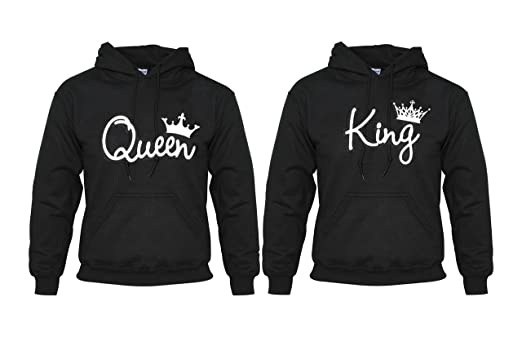 Amazon.com: King and Queen Cute Matching Couples T-Shirts / Hoodies (2XL, Queen Hoody): Sports & Outdoors