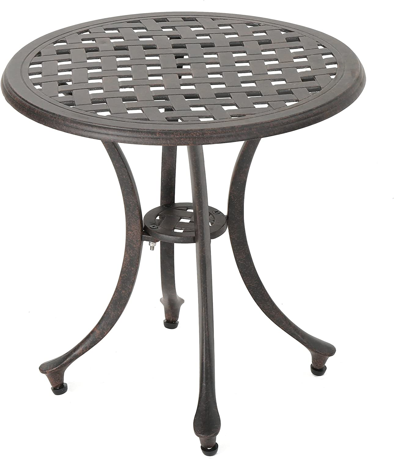 """Christopher Knight Home Lola Outdoor 19"""" Cast Aluminum Side Table, Bronze Finished : Garden & Outdoor"""