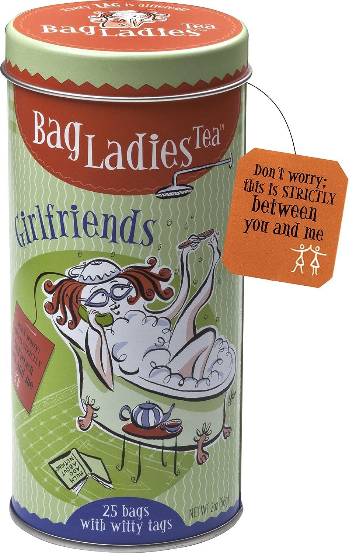 amazon com bag ladies tea girlfriends tea tin 25 teabags of
