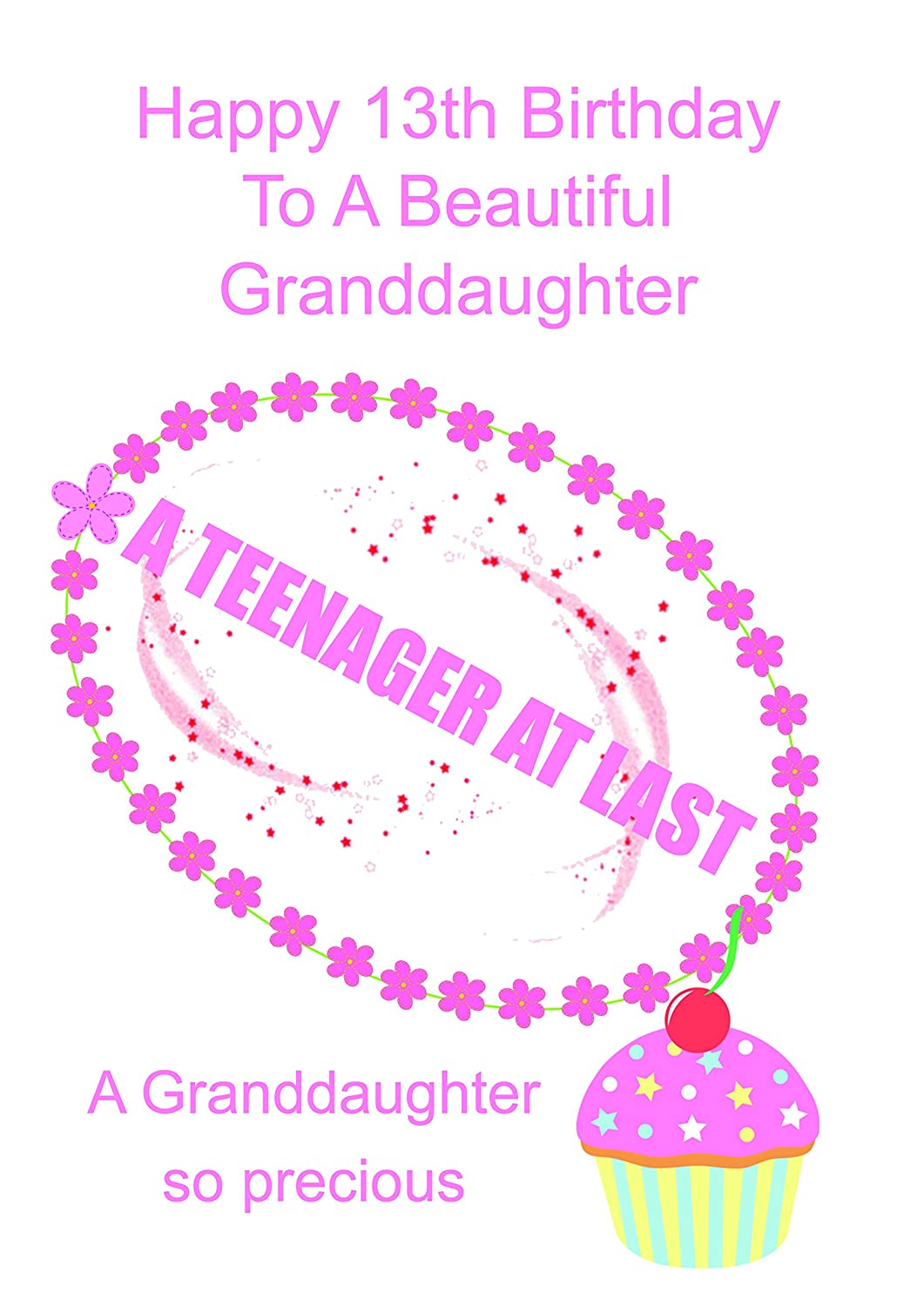 Granddaughter 13 Birthday Card Amazoncouk Office Products
