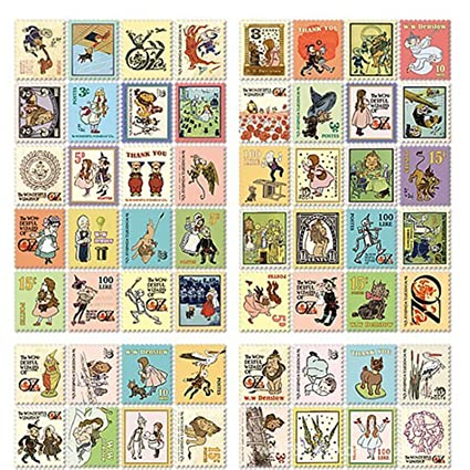 80x Stickers Vintage Sello Literatura Pegatinas para ...