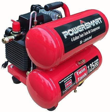 Amazon.com : PowerSmart PS60 4 Gallon Electric Air Compressor, Red/Black : Garden & Outdoor