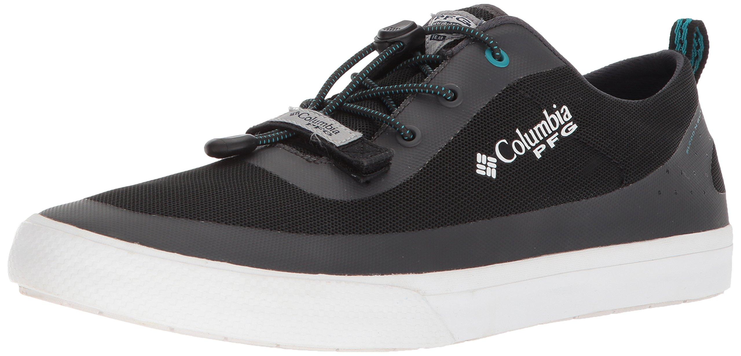 Columbia PFG Men's Dorado CVO PFG Sneaker, Black, Emerald sea, 7 Regular US