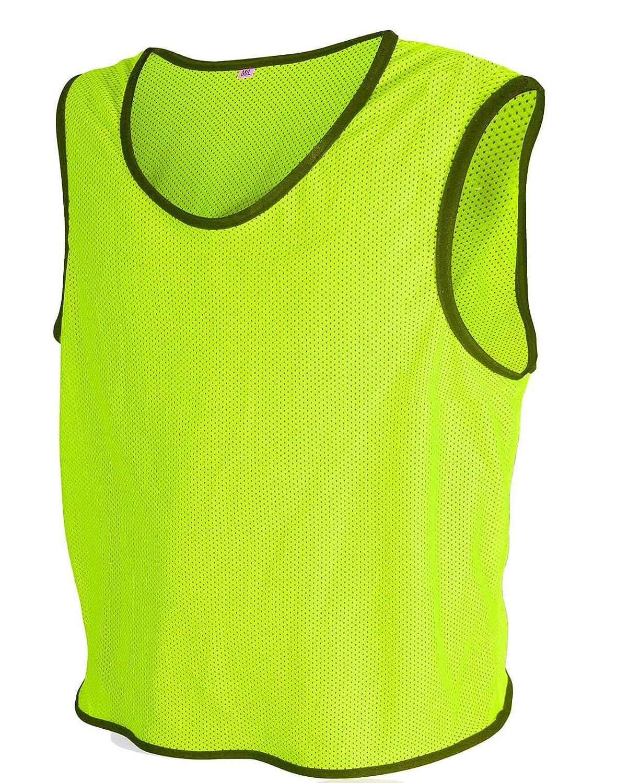 ALL THE GOOD 10/x Petos de Entrenamiento de f/útbol Petos Pegatinas de Camisa Petos Trikots Neon Geld Talla:XL//2XL