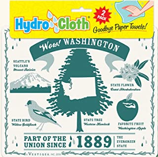 product image for Fiddler's Elbow Wow! Washington Hydro Cloth | Eco-Friendly Sponge Cloths | Reusable Swedish Dish Cloths | Set of 2 Printed Sponge Cloths | Replaces 30 Rolls of Paper Towels