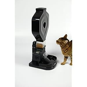 Super Feeder Automatic Cat Feeder, CSF-3XL, Large Hopper, Digital Timer, Chute Cover, Stand/Bowl.