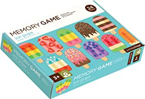 Petit Collage Memory Game, Ice Pops (24 chunky cards to match)
