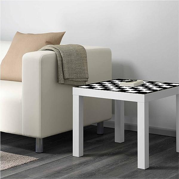 Mesa IKEA Lack Personalizada Tablero Ajedrez clásico Blanco y ...